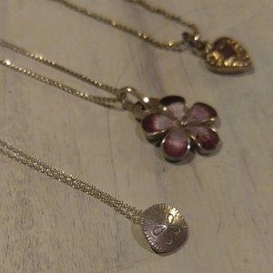 Jewelry - Vintage minimalist necklace set, w/ one 980 silver
